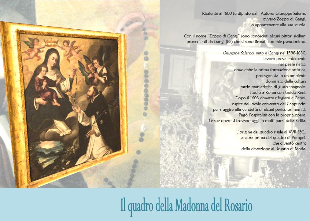 1 il quadro della madonna del rosario
